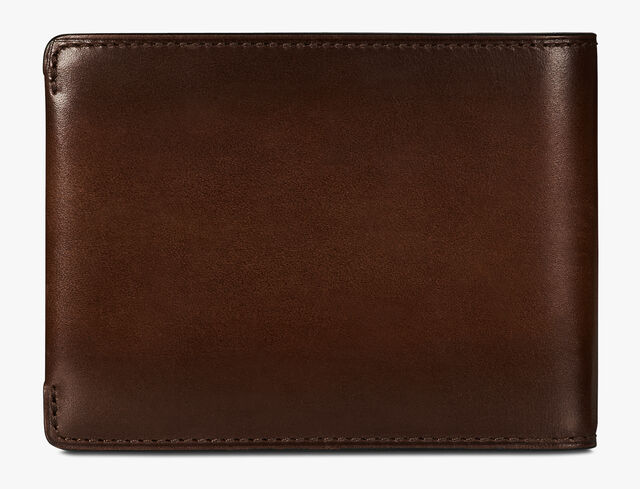 Essentiel Epure Scritto Leather Wallet, BRUN+IVORY, hi-res
