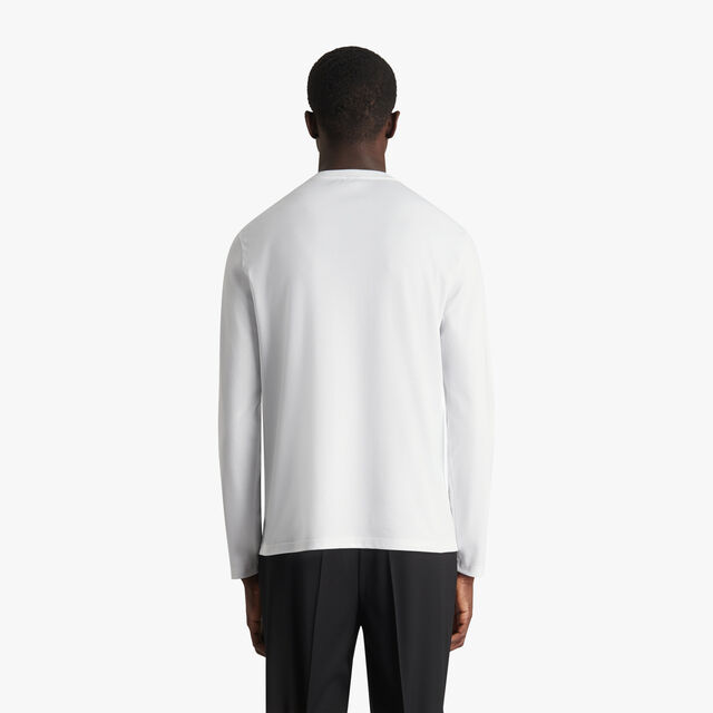 绣有Logo的长袖T恤衫, BLANC OPTIQUE, hi-res