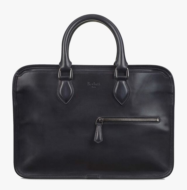 Un Jour Mini Leather Briefcase, NERO, hi-res