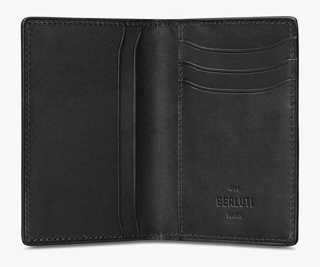 Jagua Embossed Leather Card Holder, ICE BROWN, hi-res