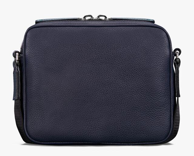 Contraste Mini Leather Messenger Bag, PETROL GREEN, hi-res