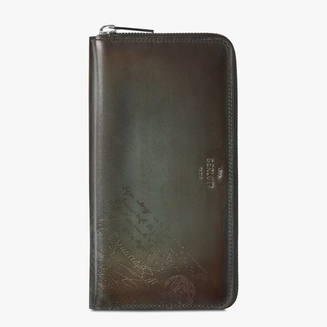 Itauba Neo Scritto Leather Long Zipped Wallet, ICE BROWN, hi-res