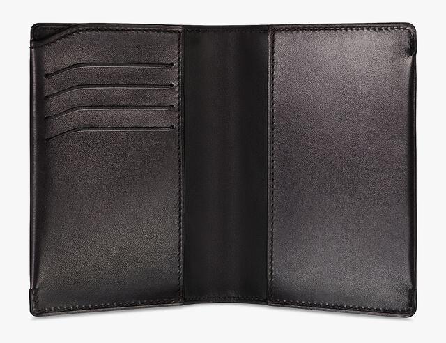 Escale Epure Leather Passport Holder, DEEP BLACK, hi-res