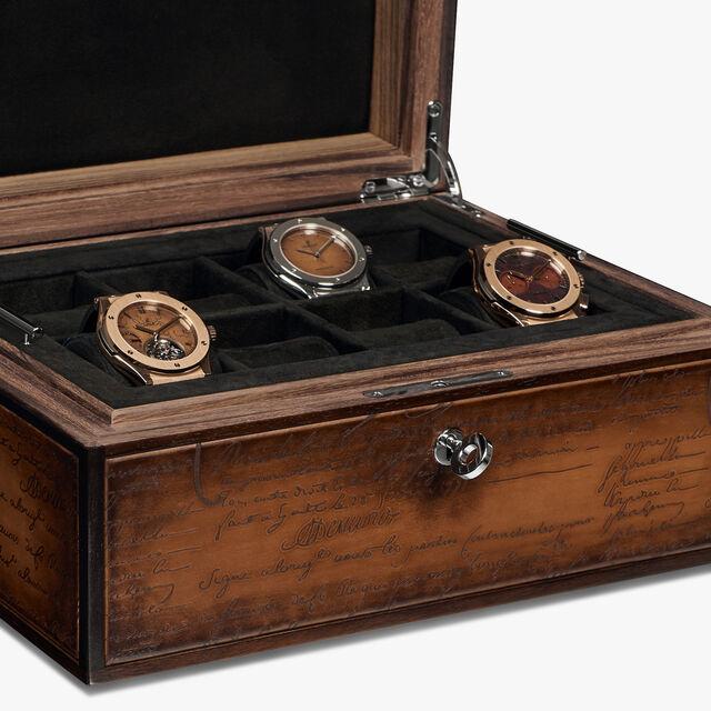 Scritto Venezia Calf Leather Watch Box, MOGANO, hi-res