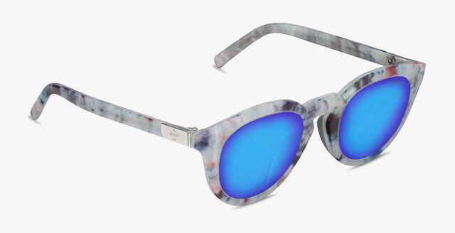 Halo 圆形醋酸纤维太阳眼镜, MARBLE, hi-res