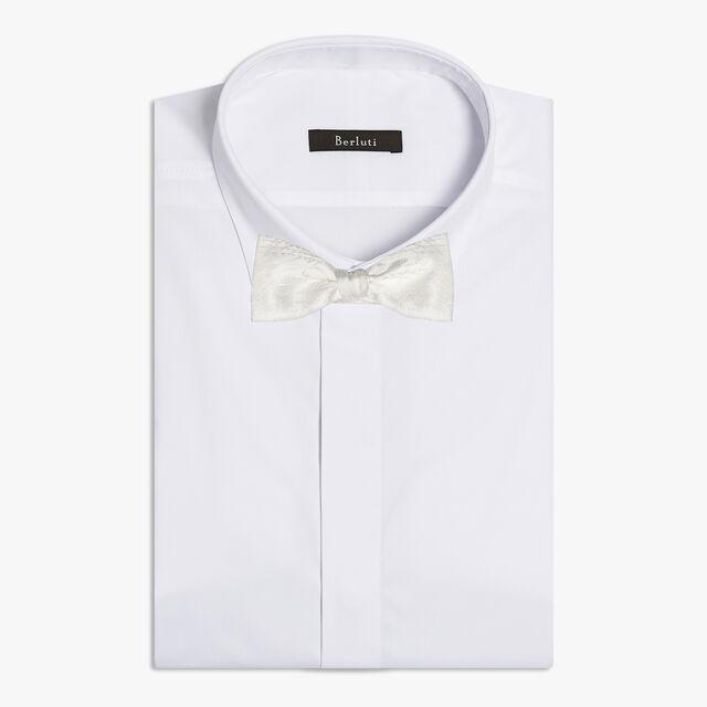 Scritto Silk Adjustable Bow Tie, BLANC OPTIQUE, hi-res