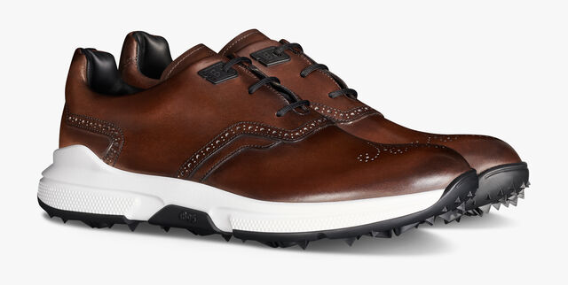 Swing Leather Golf Shoe, BRUN, hi-res