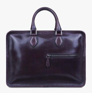 Deux Jours Leather Briefcase, SAINT EMILION TRI, hi-res