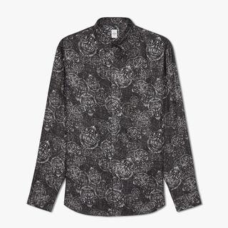 プリント シルクシャツ