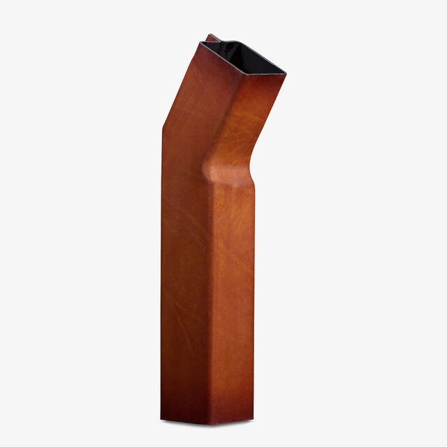 Vase En Cuir, NESPOLA ORANGE, hi-res