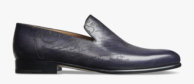 Cursive Galet Scritto Leather Loafer, NERO GRIGIO, hi-res