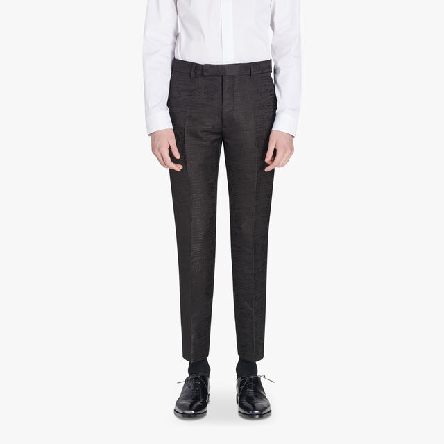 Alessandro Regular Formal Scritto Wool And Silk Pants