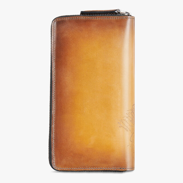 Itauba Jour Scritto Leather Long Zipped Wallet, ICE GOLD, hi-res
