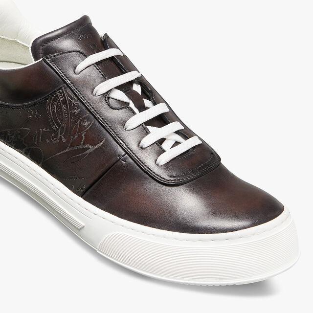 Playground Scritto Calf Leather Sneaker, BUFFALO, hi-res
