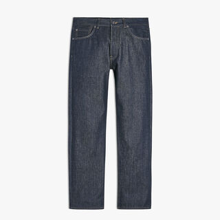 Pantalon Denim 5 Poches, INDIGO, hi-res
