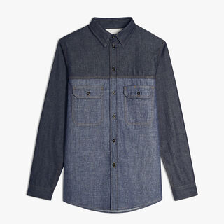 Cotton Shirt, INDIGO, hi-res