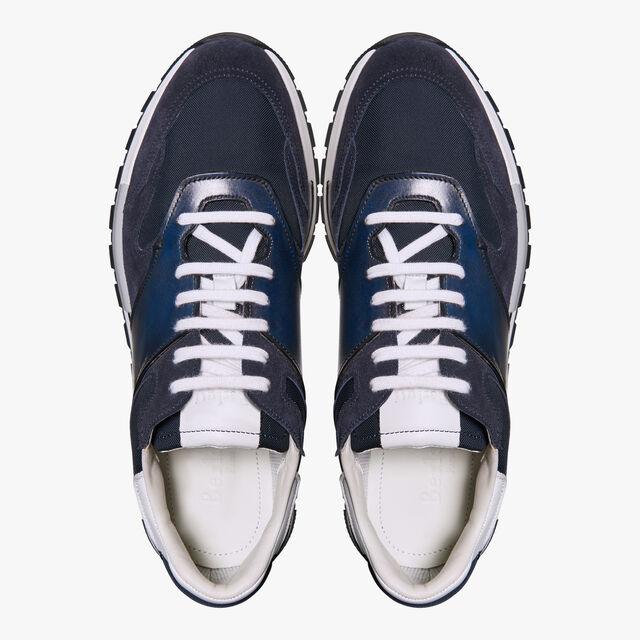 Run Track Torino Calf Suede Sneaker, NAVY BLU, hi-res