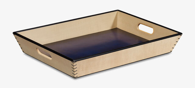 Leather Wood Tray , UTOPIA BLUE, hi-res