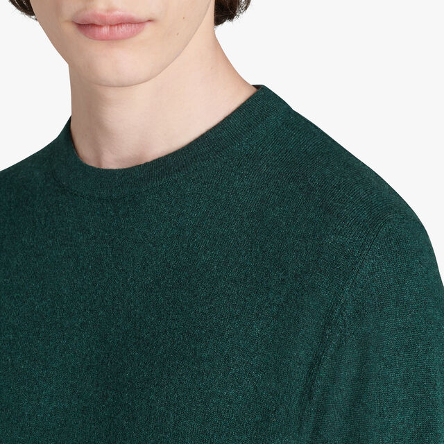 Long Sleeves Cashmere Sweater With Embroidered Logo, OPUNTIA, hi-res