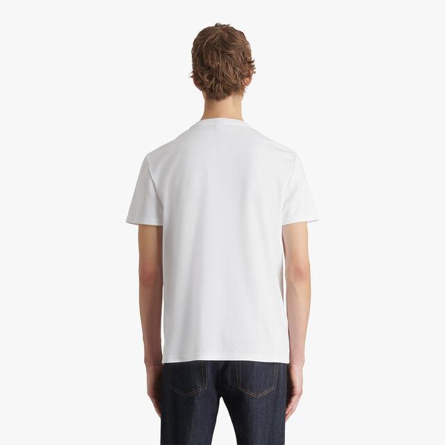 Embroidered Logo T-shirt, BLANC OPTIQUE, hi-res