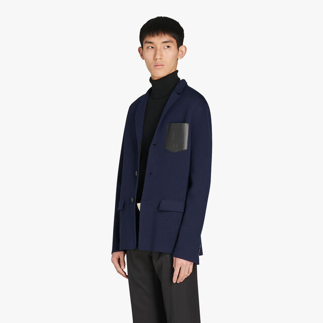 Regular Fit Bicolor Jacket With Leather Chest Pocket, PLEIADES, hi-res