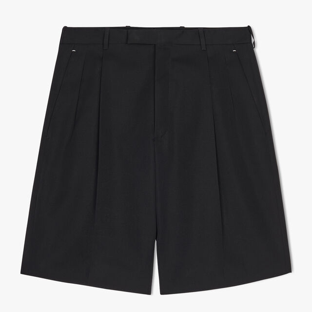 Wool Short With Leather Sideband