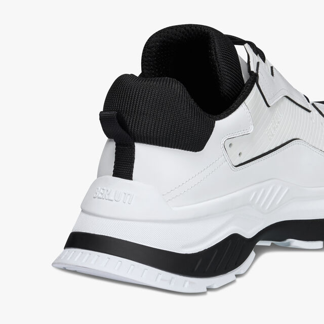 Sneaker Gravity En Cuir De Veau, WHITE, hi-res