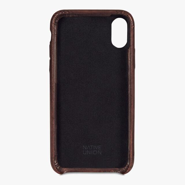 Engraved iPhone XS Max Venezia Calf Leather Case, MOGANO, hi-res