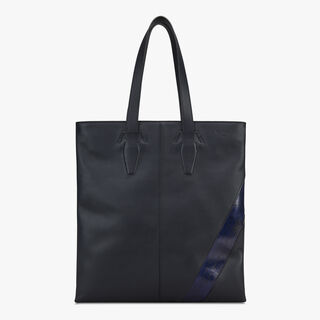 Cabas Shadow En Cuir, NAVY BLU, hi-res