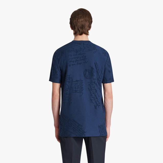 Terry Scritto T-shirt, SPACE BLUE, hi-res