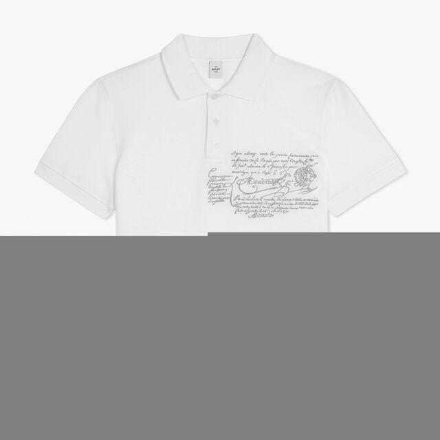 コットンピケポロシャツ, BLANC OPTIQUE, hi-res