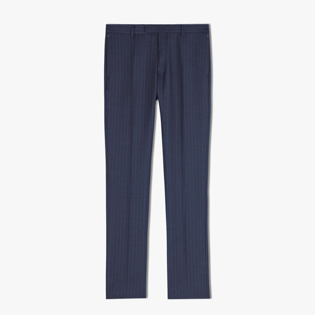 Pantalon Doublé Formel En Laine - Coupe Regular, CAOS NIGHT/BLUE, hi-res