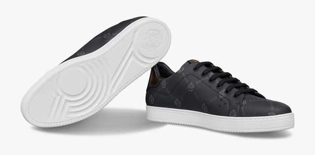 Playtime Signature Canvas and Leather Sneaker, BLACK+TDM INTENSO, hi-res