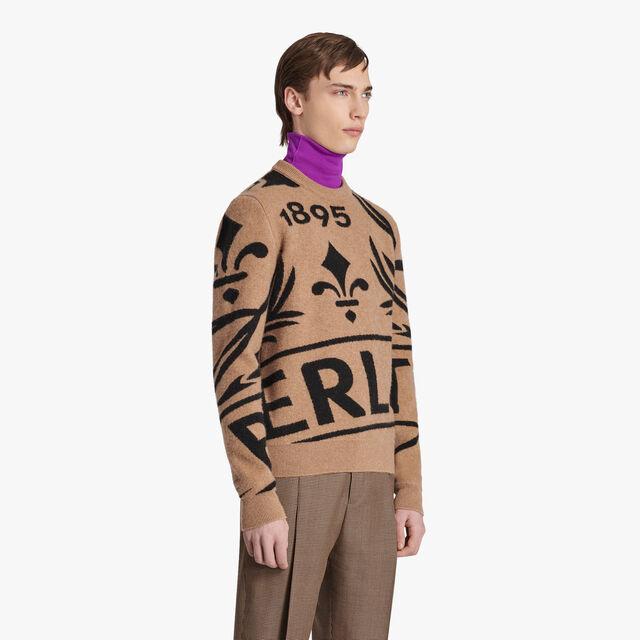 Crest Jacquard Cashmere Sweater