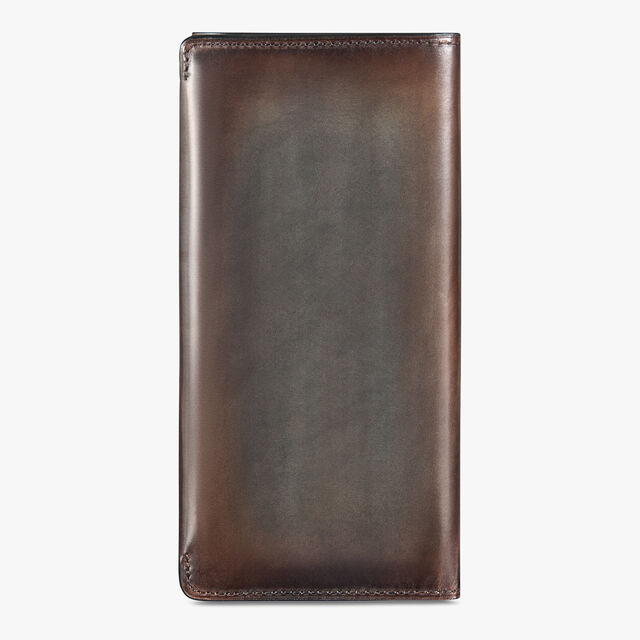 Espace Scritto Leather Long Wallet, ICE BROWN, hi-res