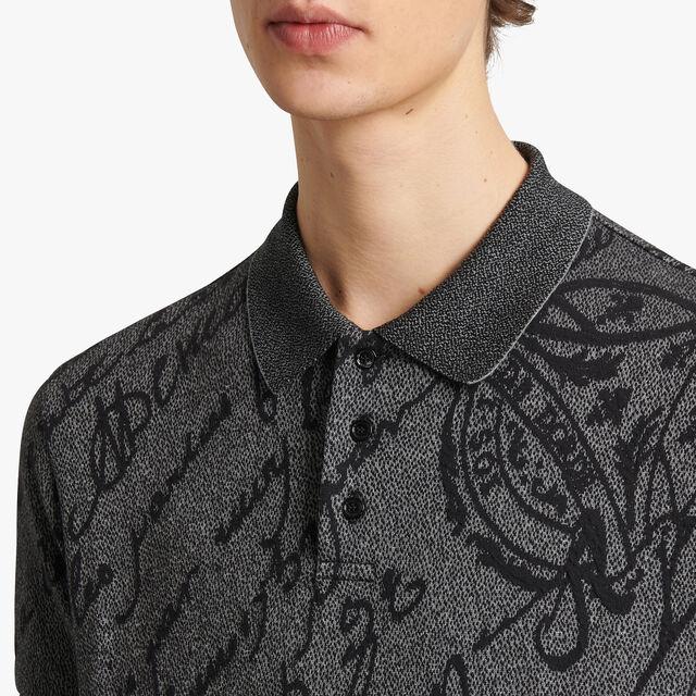 Scritto Polo Shirt With Patina Effect, MOUNTAIN ROCK, hi-res
