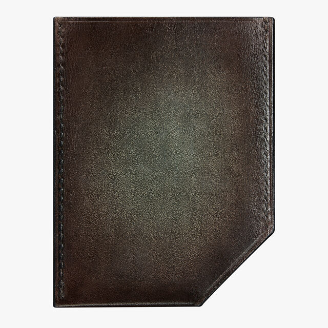 Slide Leather Card Holder, ICE BROWN, hi-res