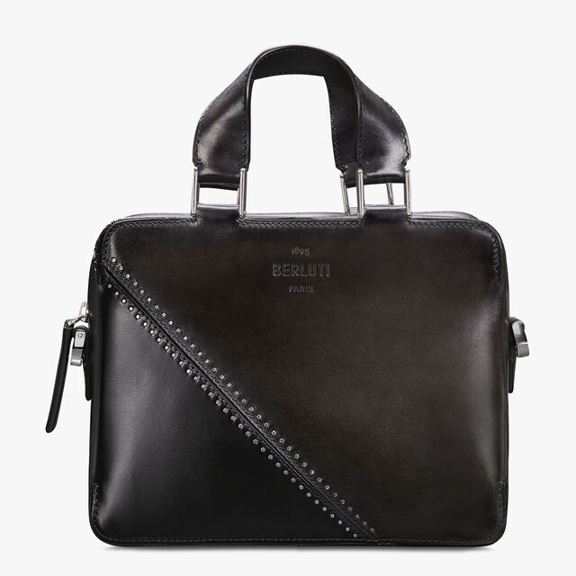 Profil 3 Mini Leather Messenger Bag, DEEP TDM & BLACK, hi-res