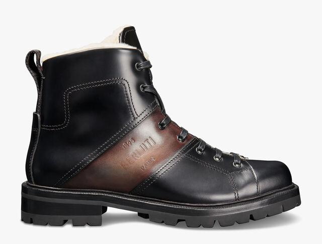 Brunico Glazed Leather Boot, NERO, hi-res