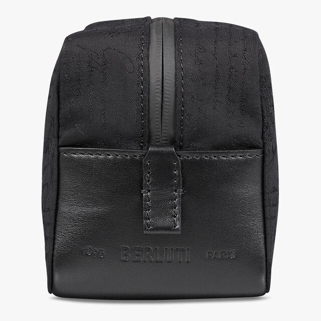 Croquis Nylon Scritto Wash Bag, NERO, hi-res
