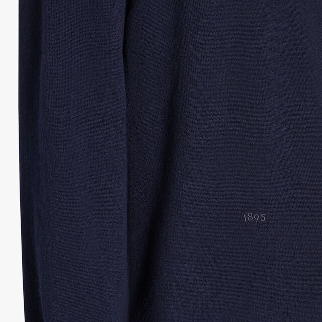 Long Sleeves Cashmere Sweater With Embroidered Logo, CAOS NIGHT, hi-res