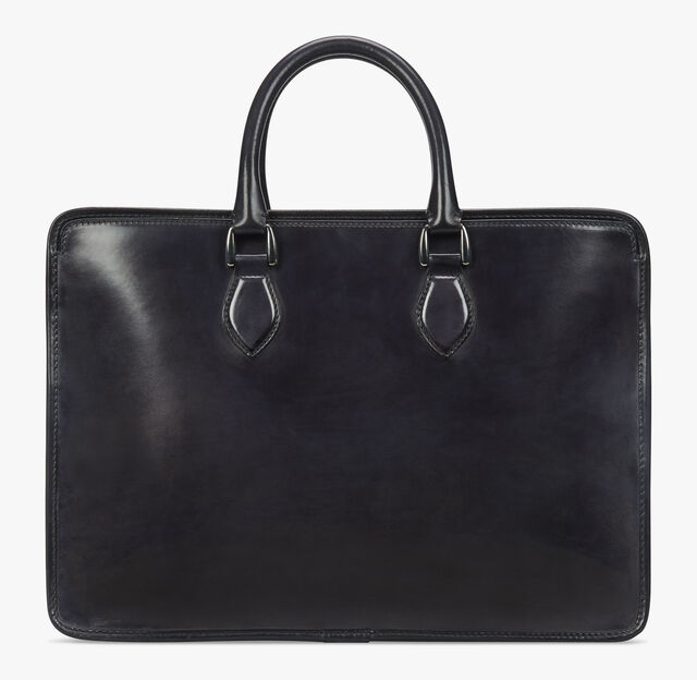 Un Jour Leather Briefcase, DEEP BLACK, hi-res