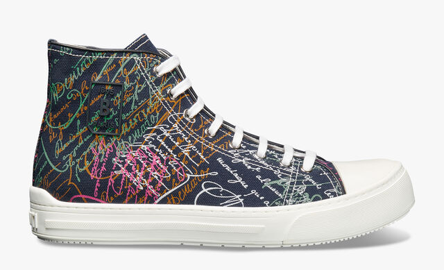 Playground Scritto Canvas High Cut Sneaker, NAVY MULTICO, hi-res