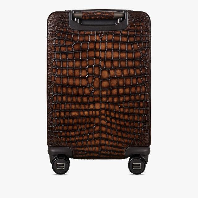 Formula 1004 Alligator Leather Rolling Suitcase, TOBACCO BIS, hi-res