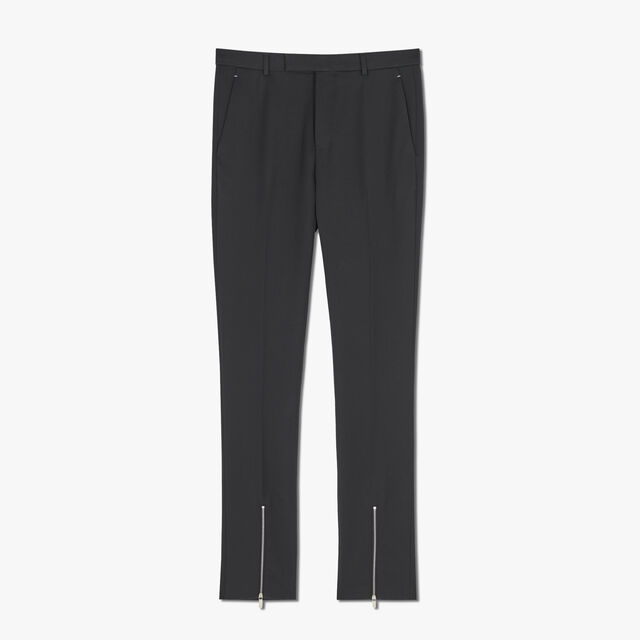 Formal Wool Lined Slim-Fit Pants, NOIR, hi-res