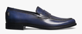 Gianni Sapienza Leather Loafer, BLU PROFONDO, hi-res