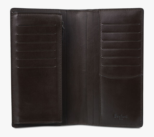 Ebene Scritto Leather Long Wallet, TOBACCO BIS, hi-res