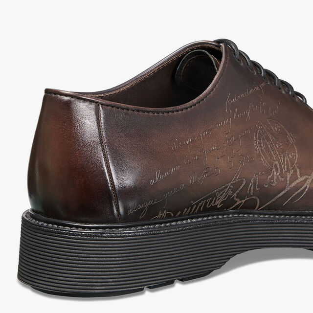 Spada Demesure Scritto Calf Leather Oxford, BUFFALO, hi-res