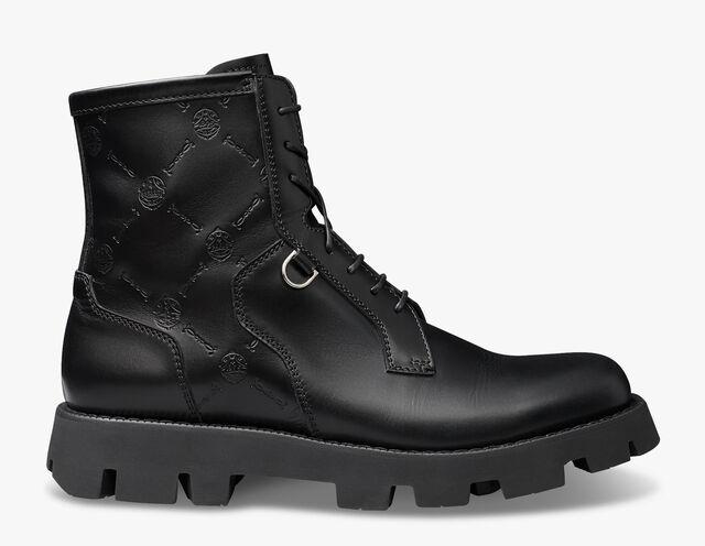 Twist Leather Boot, BLACK, hi-res