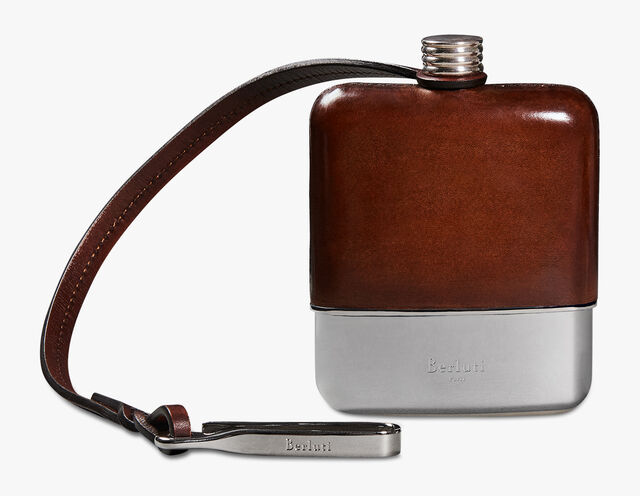 Leather Flask, MOGANO, hi-res